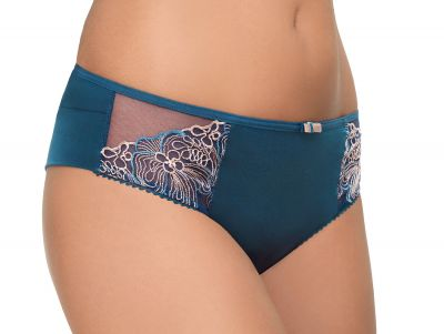 Gorsenia Karina-brazilian Ocean Blue Brazilian-malliset housut, jotka ovat peittävyydeltään perusmidihousujen ja stringien väliltä. S/36 - 2XL/44 K572