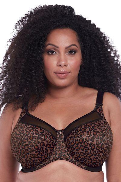 Goddess Kayla UW -rintaliivit Dark Leopard Kaarituettu, kokokuppinen ja toppaamaton  75-105, E-N GD6162-DLD