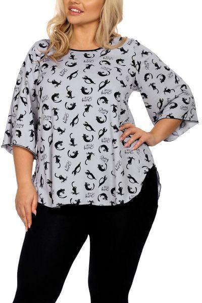 Hamana Kitty 2-osainen pyjamasetti / oloasu harmaa-musta 2 osainen pyjama/oloasu S-5XL