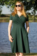 Koperta-mekko lyhythihainen tummanvihreä