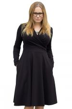 Koperta-mekko pitkähihainen musta