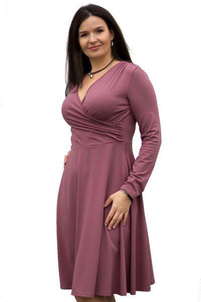 Urkye Koperta-mekko pitkähihainen Rose Brown Pitkähihainen neulosmekko taskuilla 36-50 O/OO, OO/OOO SU-033-FIO-2020