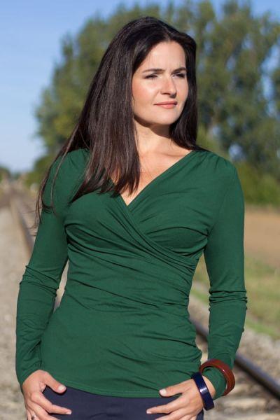Kopertowka-paita pitkähihainen pullonvihreä