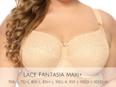Bella Misteria Lace Fantasia Soft -rintaliivit Beige Kaarituettu, toppaamaton pitsiliivi sivutuella 65-105, D-L BS-37/38-BEZ-S16/SMX16