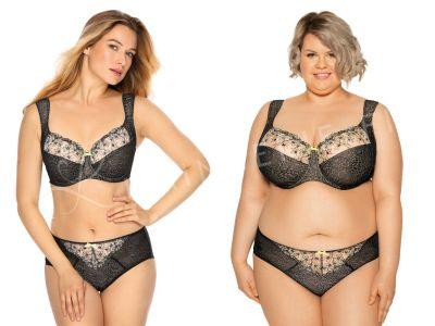 Gaia Lingerie Laura Soft -rintaliivit Tempting Black Kaarituettu, toppaamaton lähes täyskuppinen malli 70-105, D-L BS--929-CZA