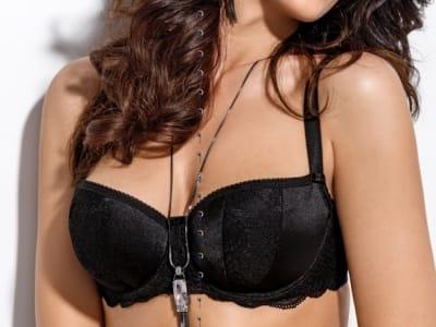 Leila-balconette-rintaliivit musta
