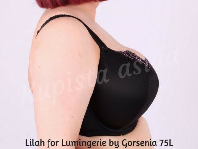 Lilah-rintaliivit musta-liila - For Lumingerie by Gorsenia