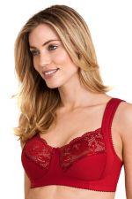 Lovely Lace kaarituettomat rintaliivit punainen