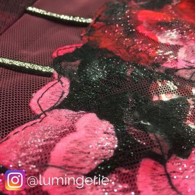 Savannah Soft -rintaliivit musta-kukka