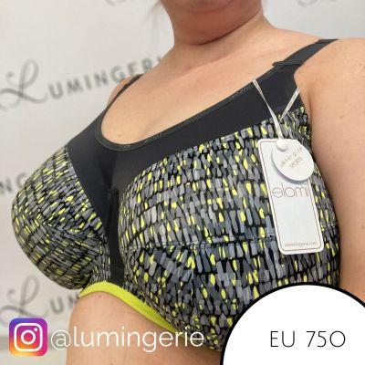 Elomi Energise UW -urheiluliivit Lime Twist Kaarituettu ja toppaamaton urheiluliivi kaikenlaiseen liikuntaan 70-100, D-O EL8042-LIT