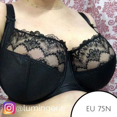 Nessa Clarisse Soft Side Support -rintaliivit musta Kaarituettu, toppaamaton sivutuettu liivimalli 65-100, D-P N006-506-BLK