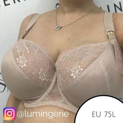 Gorsenia Amy Soft -imetysrintaliivit beige Kaarituettu, toppaamaton liivi 70-95, D-M MK15-BEZ