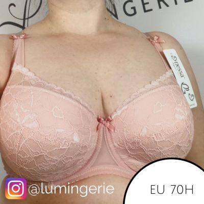 Nessa Abbi Padded -rintaliivit roosa Kaarituettu, topattu 60-95, D-M N001-502-PINK