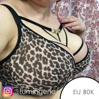 Novika by Ava Stella N°03 Soft Side Support -rintaliivit Golden Leopard Kaarituettu, pehmeäkuppinen liivi 65-100, D-K