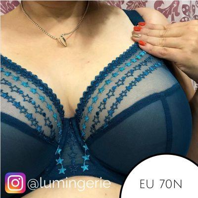 Elomi Matilda UW Plunge -rintaliivit Blue Star Kaarituettu, kokokuppinen ja toppaamaton plunge-liivi 70-100, E-O EL8900-BST