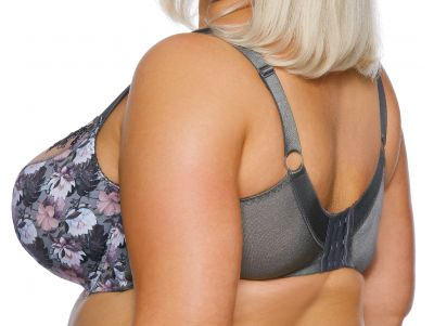 Margaret Semi Soft Maxi -rintaliivit harmaa lootusprintti