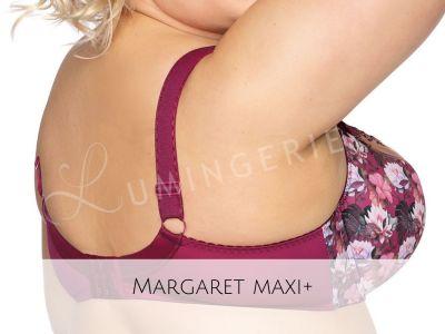 Margaret Semi Soft -rintaliivit luumunpunainen lootusprintti