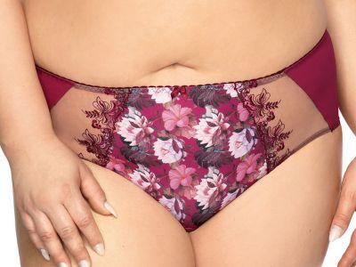 Margaret-alushousut luumunpunainen lootusprintti