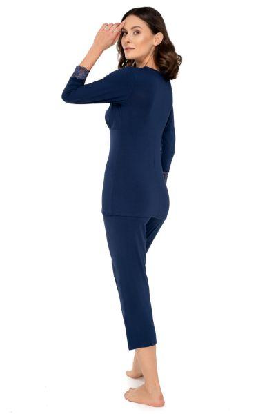 Babella Margot-pyjama 2-osainen Saphire Kaksiosainen pyjamasetti M/38-40 - 3XL/54-56
