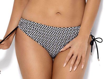 Ava Swimwear Marigold-nyöribikinihousut musta-valko-kulta  S-3XL SF-89/2