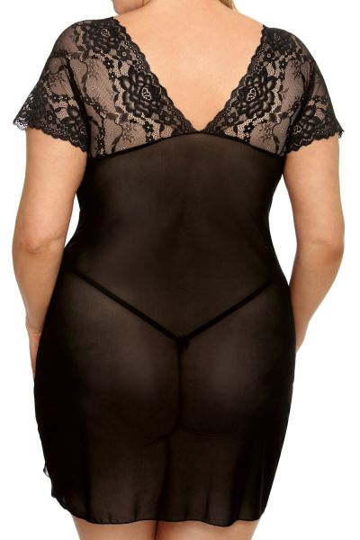 Anaïs apparel Anaïs+ Marina-pitsimekko musta  XL-6XL