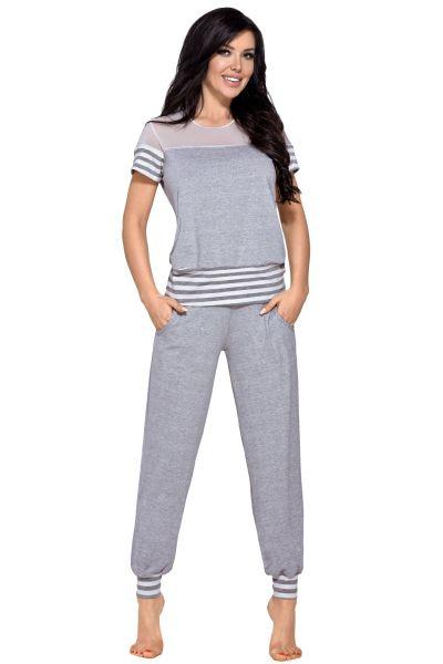 Medea 2-osainen pyjamasetti harmaameleerattu