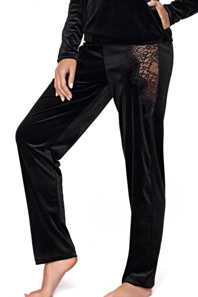 Mia 2-osainen samettinen pyjamasetti / oloasu musta