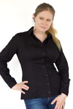 Minimal pitkähihainen paitapusero musta