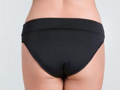Mirabella-bikinihousut taittovyötäröllä musta-valkoinen