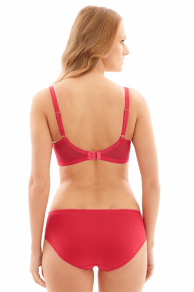 Nouveau-alushousut kirsikanpunainen