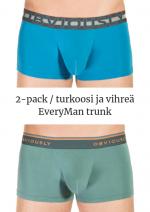 EveryMan Trunk 2-pack turkoosi ja vihreä