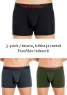 Obviously FreeMan Bokserit 3-pack musta, tuhkanharmaa ja metsänvihreä-thumb Bokserit 90% Bambu, 10% Lycra S-XL C00-1A/C00-1U/C00-1V