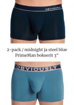 PrimeMan Bokserit 2-pack keskiyönsininen ja siniharmaa