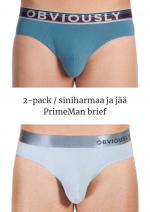 PrimeMan Brief 2-pack teräksensininen ja jää