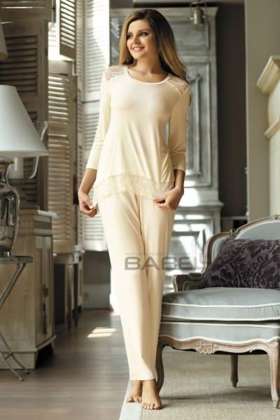 Olimpia-pyjama 2-osainen luonnonvalkoinen