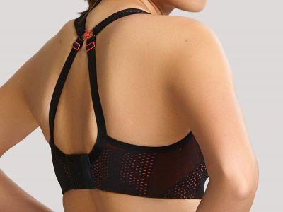 Panache Sport 5021C urheilurintaliivit Black Lace & Coral