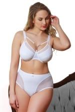 Tiffany-alushousut valkoinen