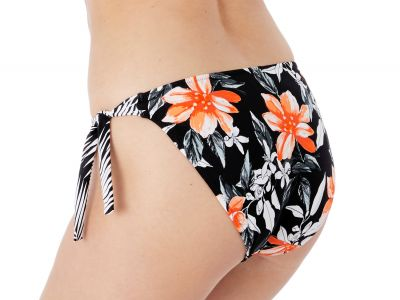 Fantasie Port Maria Classic Tie Side -bikinihousut Black Floral  38-44 FS6896-BLK