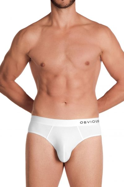 Obviously PrimeMan Brief valkoinen Brief-alushousut <br> 90% Mikrokuitu, 10% Lycra<br> S-3XL A02-1N