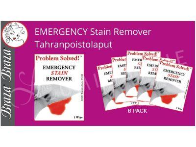 Braza Braza Emergency Food Stain Remover -tahranpoistolaput  6 kpl paketti 1024-26