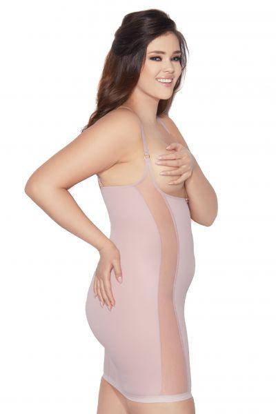 Mitex Pure Style -alusmekko vaaleanpunainen Kevyesti siloittava kupiton alusmekko S-2XL PS-PP