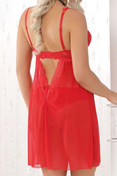 Nessa Roxy-babydoll punainen  S / 36-38 - 5XL / 50-52