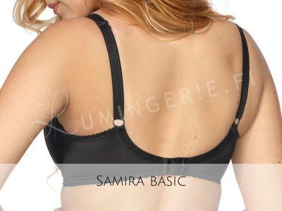 Gaia Lingerie Samira Soft -rintaliivit musta Kaarituettu, toppaamaton lähes täyskuppinen malli 65-105, D-L BS-874-CZA