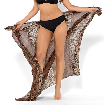 Ava Swimwear Savanni-pareo eläinprintti Yhden koon pareo - 130 cm x 160 cm One size PAR-002-SAV