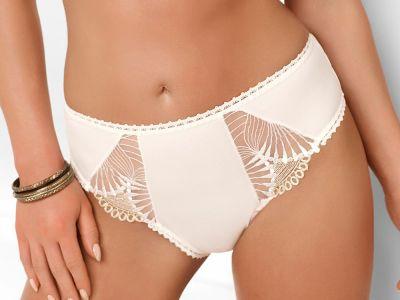 Nessa Selena-alushousut luonnonvalkoinen Perinteiset alushousut pitsikoristeilla, normaalikorkea vyötärö 36-46 No2