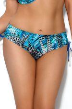 Skye-bikinihousut nyörillä sininen höyhenprintti