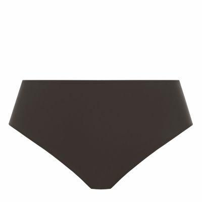 Elomi Smooth Full Brief -alushousut musta Korkeavyötäröiset, yksinkertaiset alushousut 40-50 EL4565-BLK