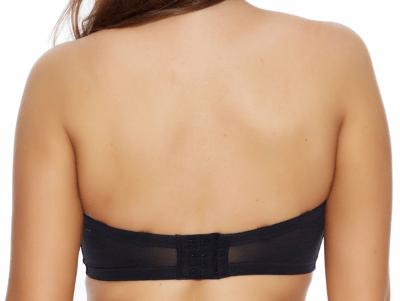 Smoothing-olkaimettomat rintaliivit musta