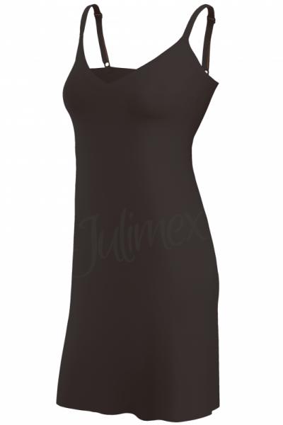Julimex Lingerie Soft & Smooth -alusmekko musta  S-2XL JXL-HALKA