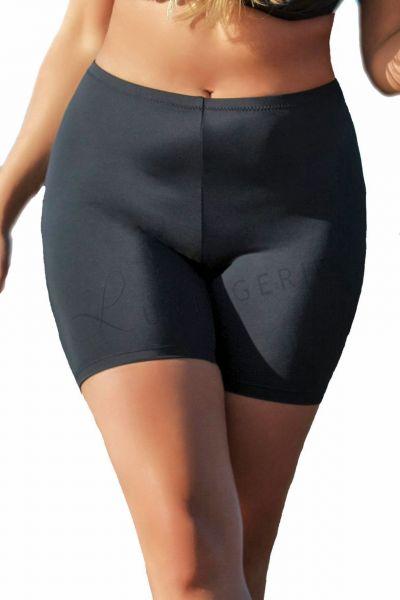 Plaisir Lingerie Solid-bikinishortsit musta Lahkeelliset bikinihousut 42-54 T0021